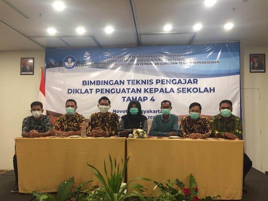 21 Dosen FKIP Ikuti Bimtek di Yogyakarta sebagai Tim Pengajar dan Supervisor Diklat Penguatan Kepala Sekolah