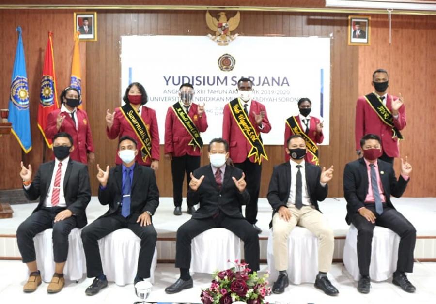 FKIP Unimuda Sorong Gelar Yudisium Angkatan XIII Gelombang 1 Tahun 2020