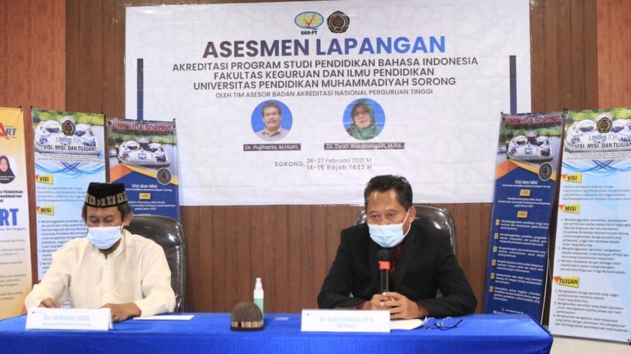 OPTIMIS HASIL TERBAIK, ASESMEN LAPANGAN AKREDITASI IASP 4.0 PRODI PENDIDIKAN BAHASA INDONESIA FKIP UNIMUDA SORONG BERJALAN LANCAR