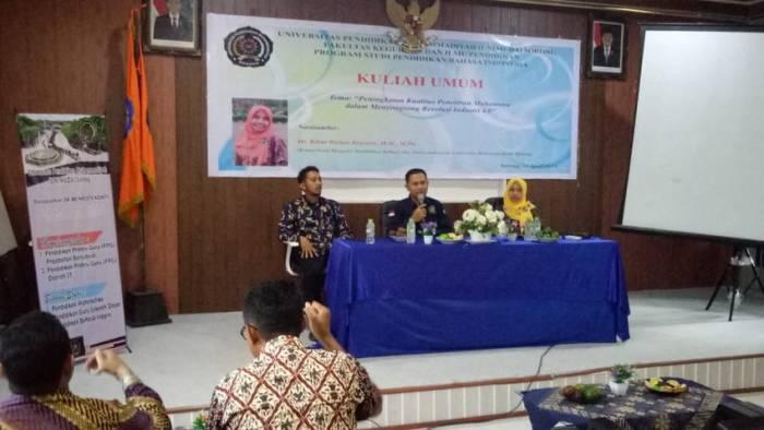 Pacu Bidang Riset, Prodi Pendidikan Bahasa Indonesia FKIP UNIMUDA Gelar Kuliah Umum