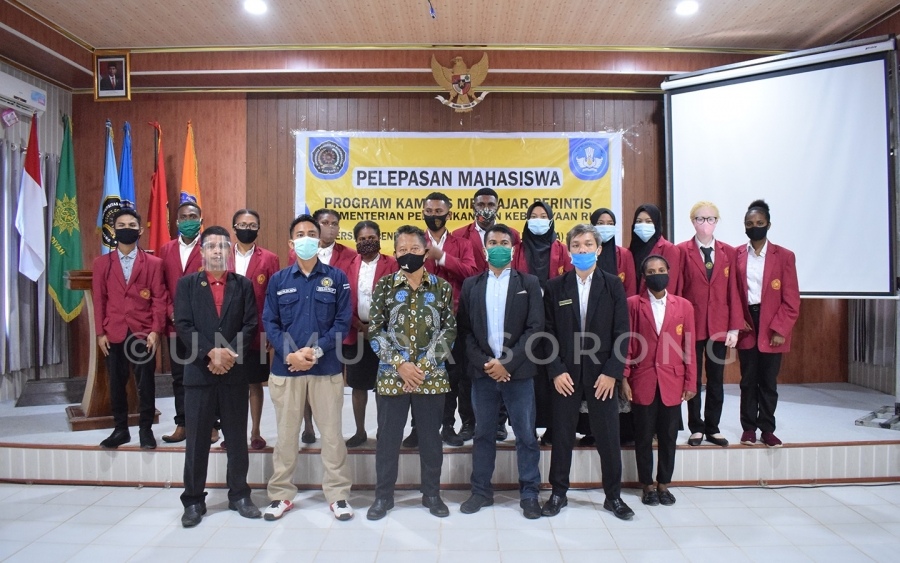 Rektor Unimuda Sorong, Lepas Mahasiswa Program Kampus Mengajar Perintis