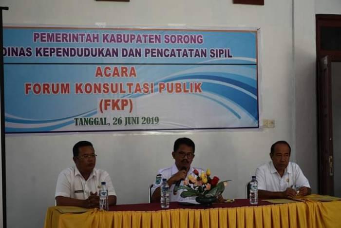 UNIMUDA SORONG UTUS 2 MAHASISWA DARI (FKIP dan FISH) UNTUK IKUTI FORUM KONSULTASI PUBLIK DISDUKCAPIL KABUPATEN SORONG
