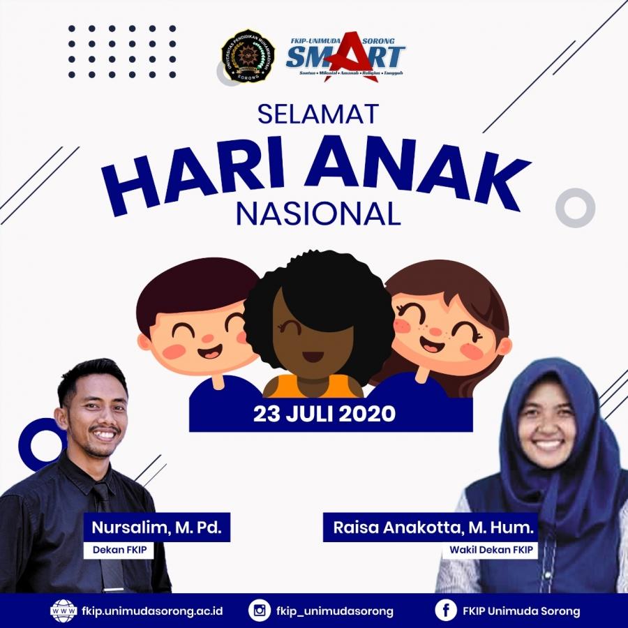 SELAMAT HARI ANAK NASIONAL 23 JULI 2020